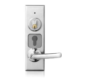 Dörrbladsläsare 1189 monteras direkt på dörrbladet.