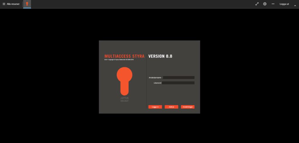 Starta Aptus MultiAccess direkt i webbläsaren.